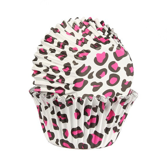 Baked With Love Pink Leopard print - Pack of 25