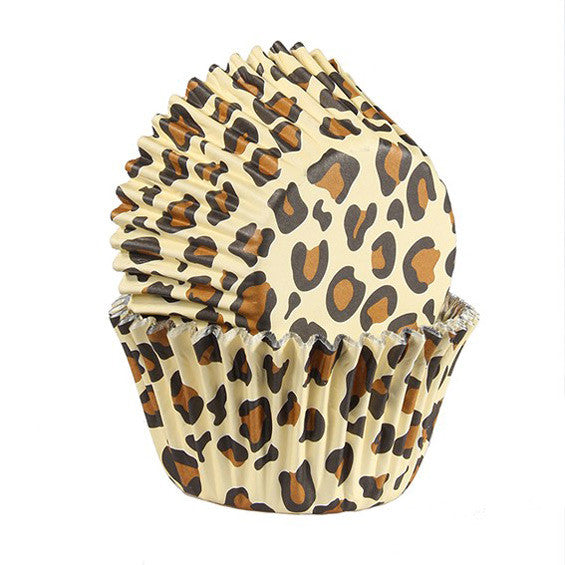 Baked With Love Leopard print - Pack of 25