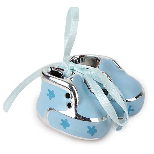 Artificial Stone Baby Booties Blue Small