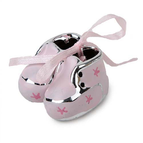 Artificial Stone Baby Booties Pink Small