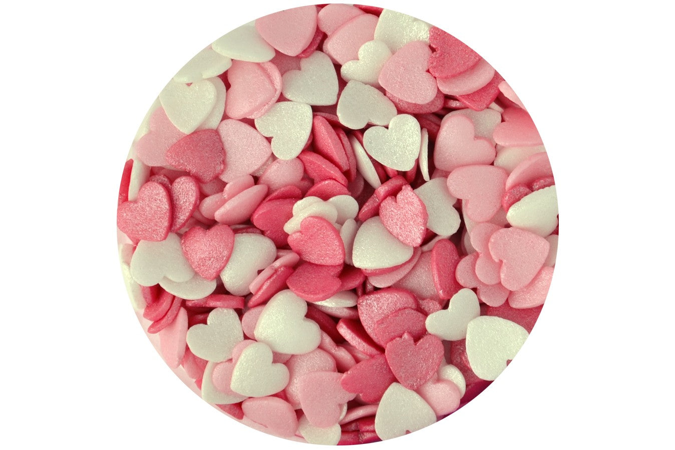 Sugar Glimmer Hearts : Candy Floss 65g