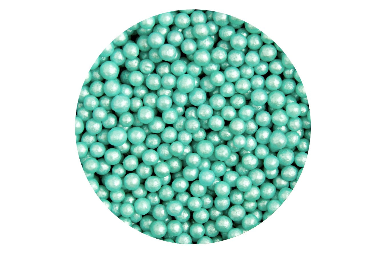 Sugar 4mm Pearls: Turquoise 80g