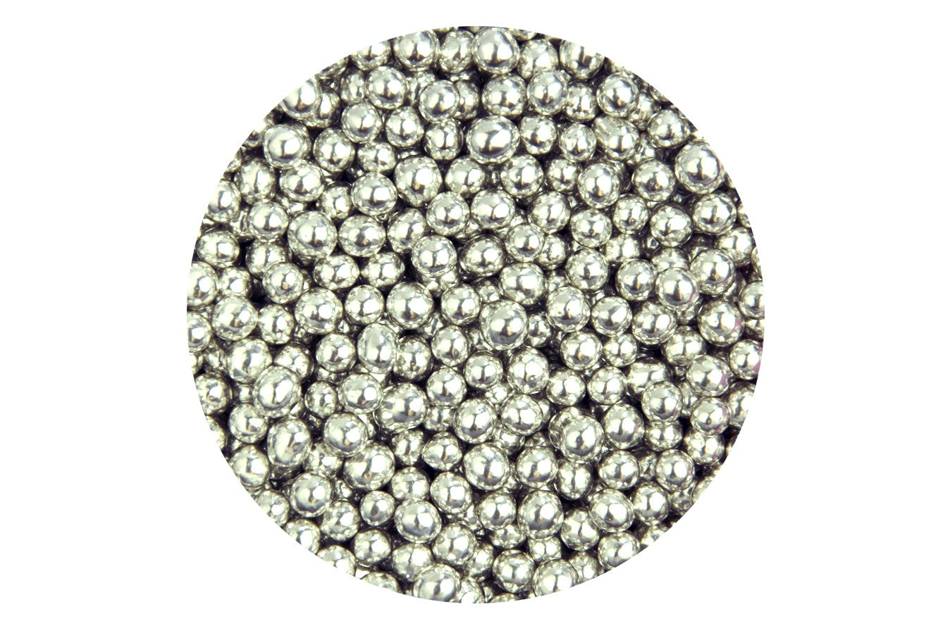 Sugar 4mm Pearls: Silver 80g