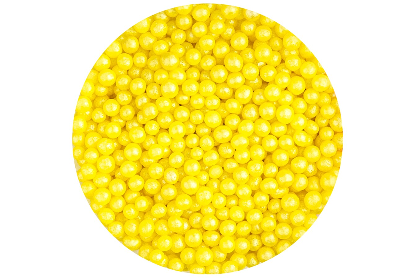 Sugar 4mm Pearls: Yellow 80g