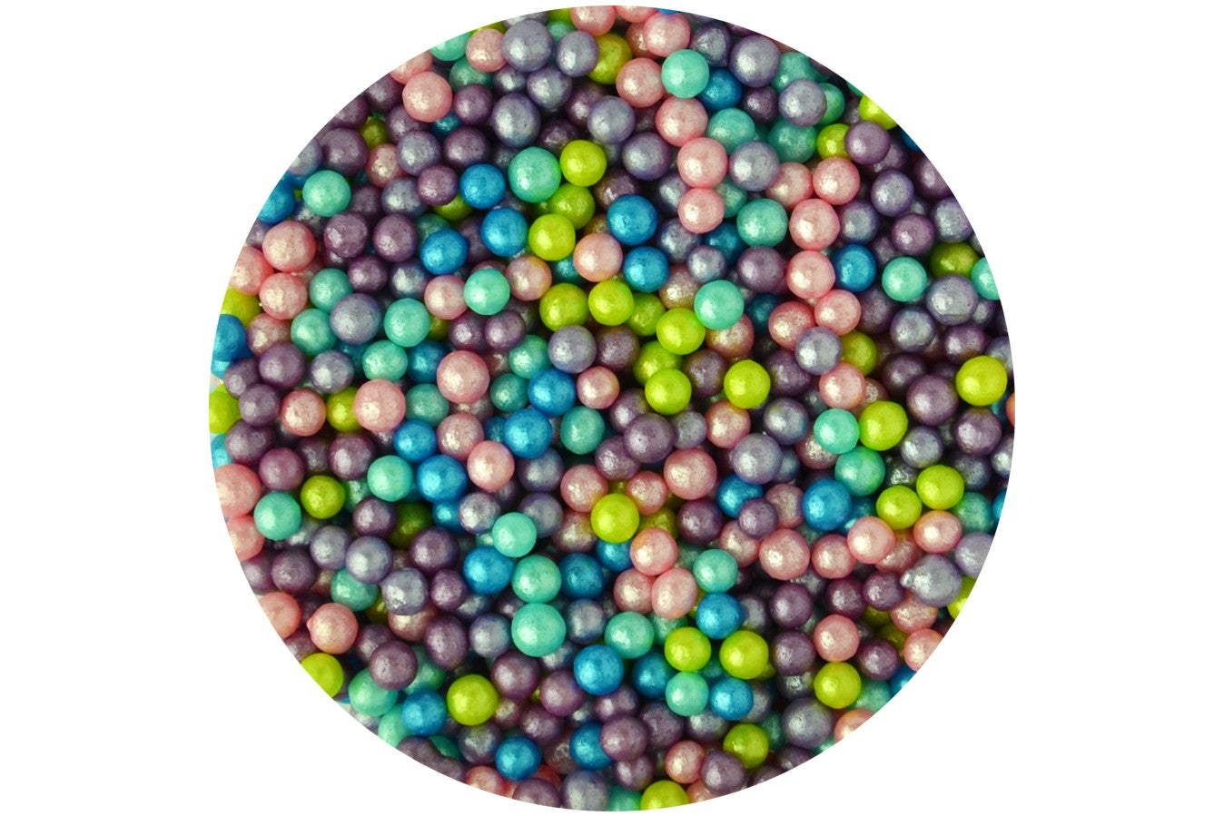 Sugar 4mm Pearls: Rainbow Glimmer 80g