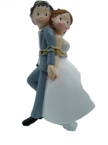Wedding Topper Couple in Chain 6""