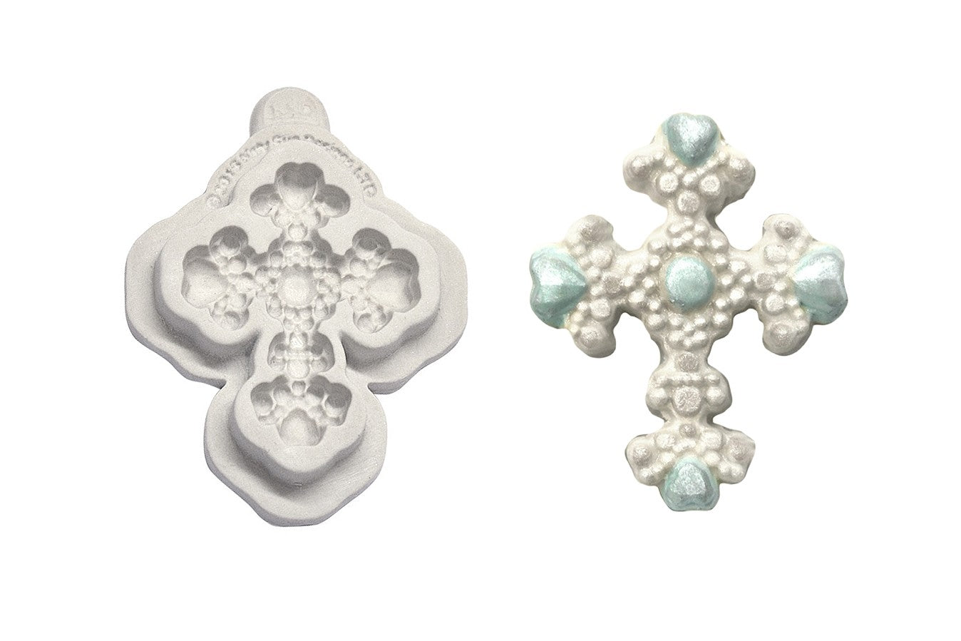 Katy Sue Moulds: Button - Beaded Cross