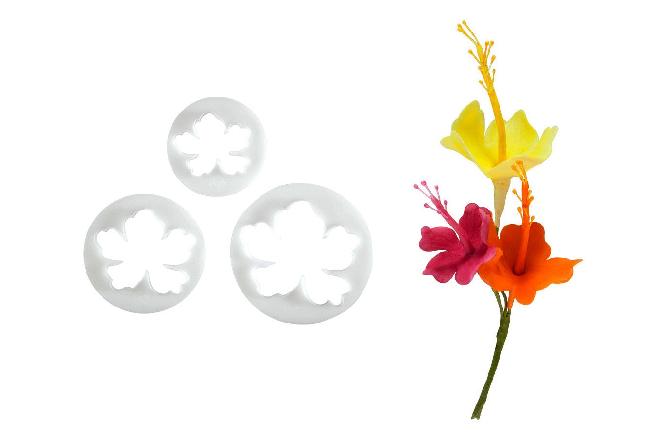Hawaiian Flowers Cutter 3 set