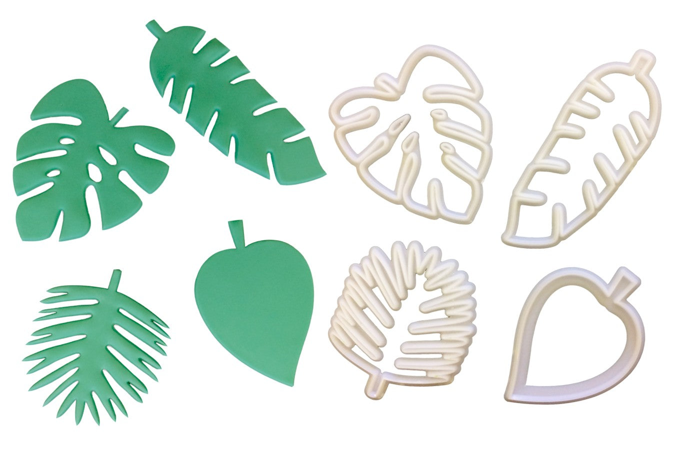 Totally Tropical Leaves Cutter 4 set