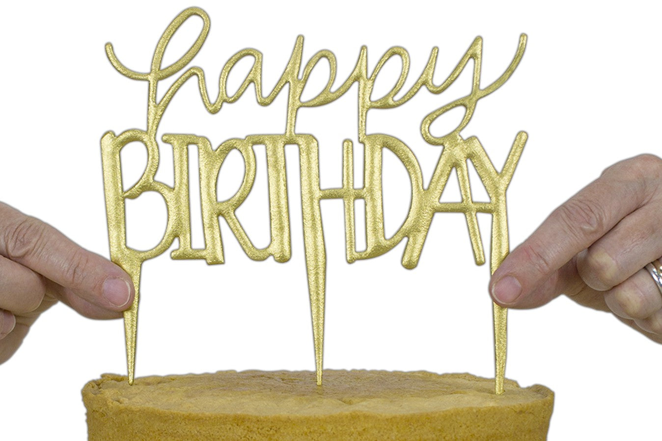 PME : Cake Topper Cutter - Happy Birthday - Modern