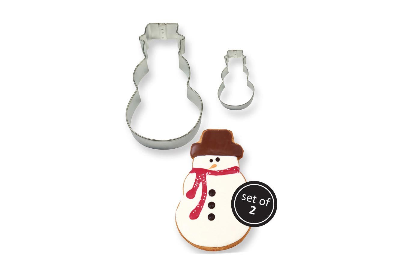 Stainless Steel Cutter: Snowman 2 Set