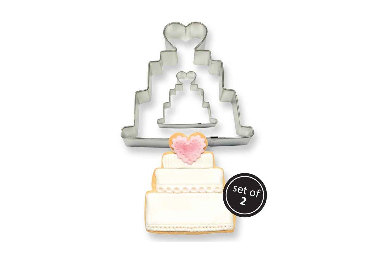 Metal Cookie & Cake Cutter: Wedding Cake