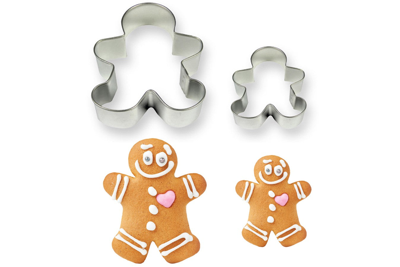 Metal Cookie & Cake Cutter: Gingerbread Man