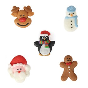 Edible Christmas Friends Sugar Pipings x 20