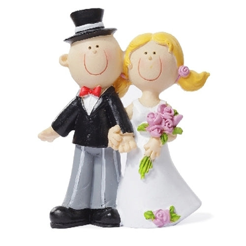 Wedding topper couple 10 cm x 6 cm