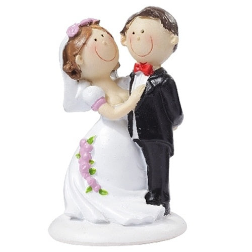 Wedding topper couple smile 9 cm x 5 cm