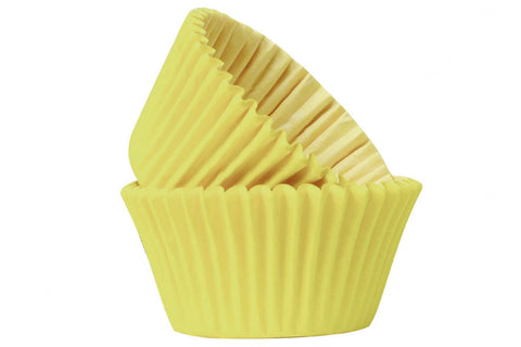Professional Quality Cupcake Cases: Yellow 50pk