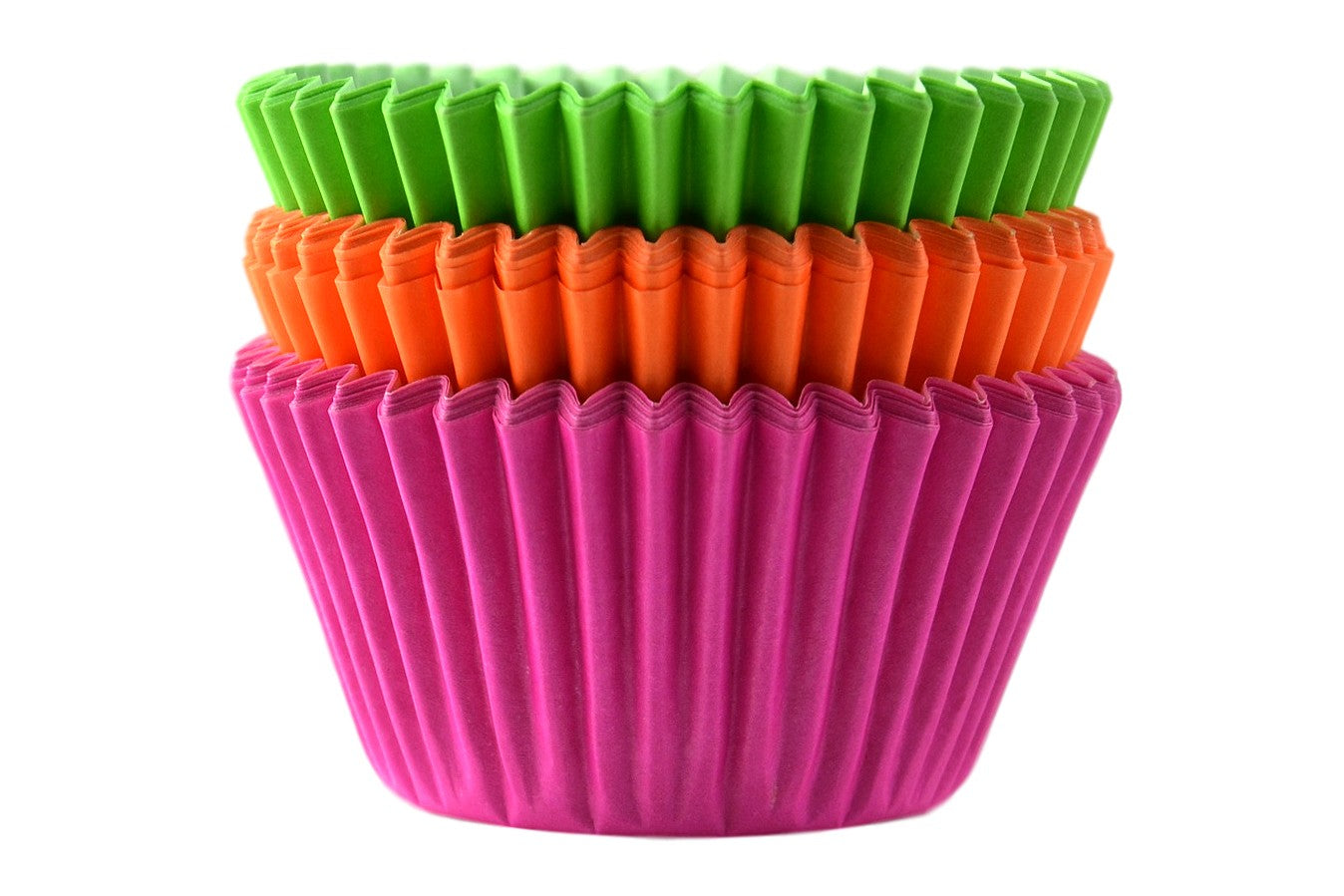 Professional Quality Muffin Cases - Neon 45pk