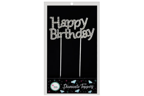 Diamante Topper - Happy Birthday