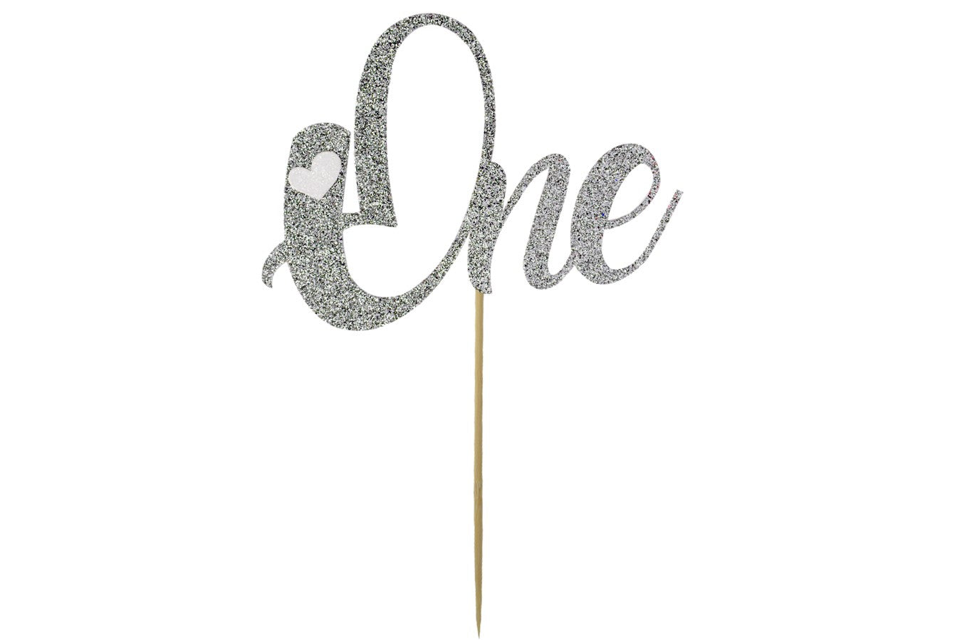 Cake Topper - One - Silver