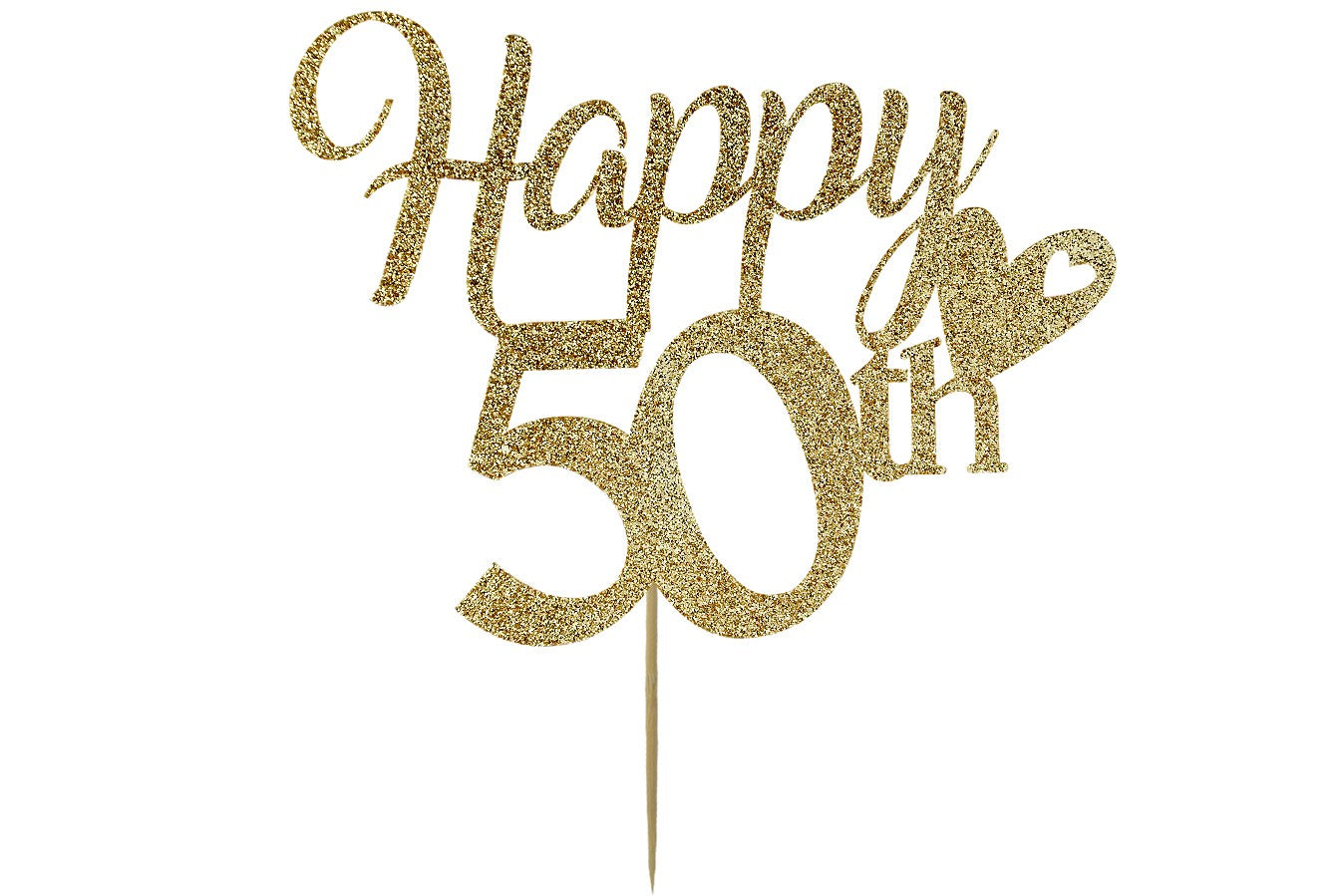 Happy 50th Birthday - Light Gold