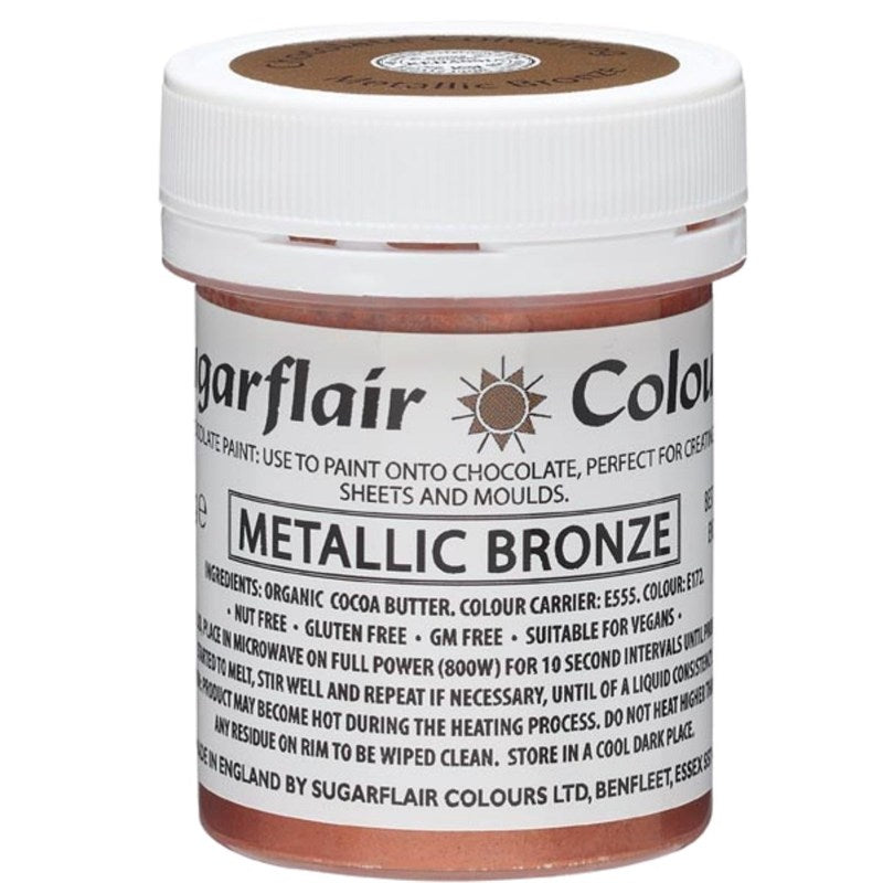 Sugarflair Chocolate Colouring Paint Bronze 35g