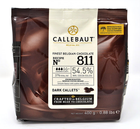 Belgian Callebaut Dark Chocolate 54.5% 400g