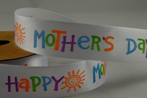 25mm happy mothers day ribbon 5 Metres - Bakeworld.ie