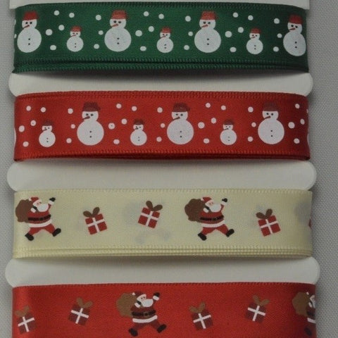 15mm Assortment Merry Christmas Ribbon 4 x 2 Mtr