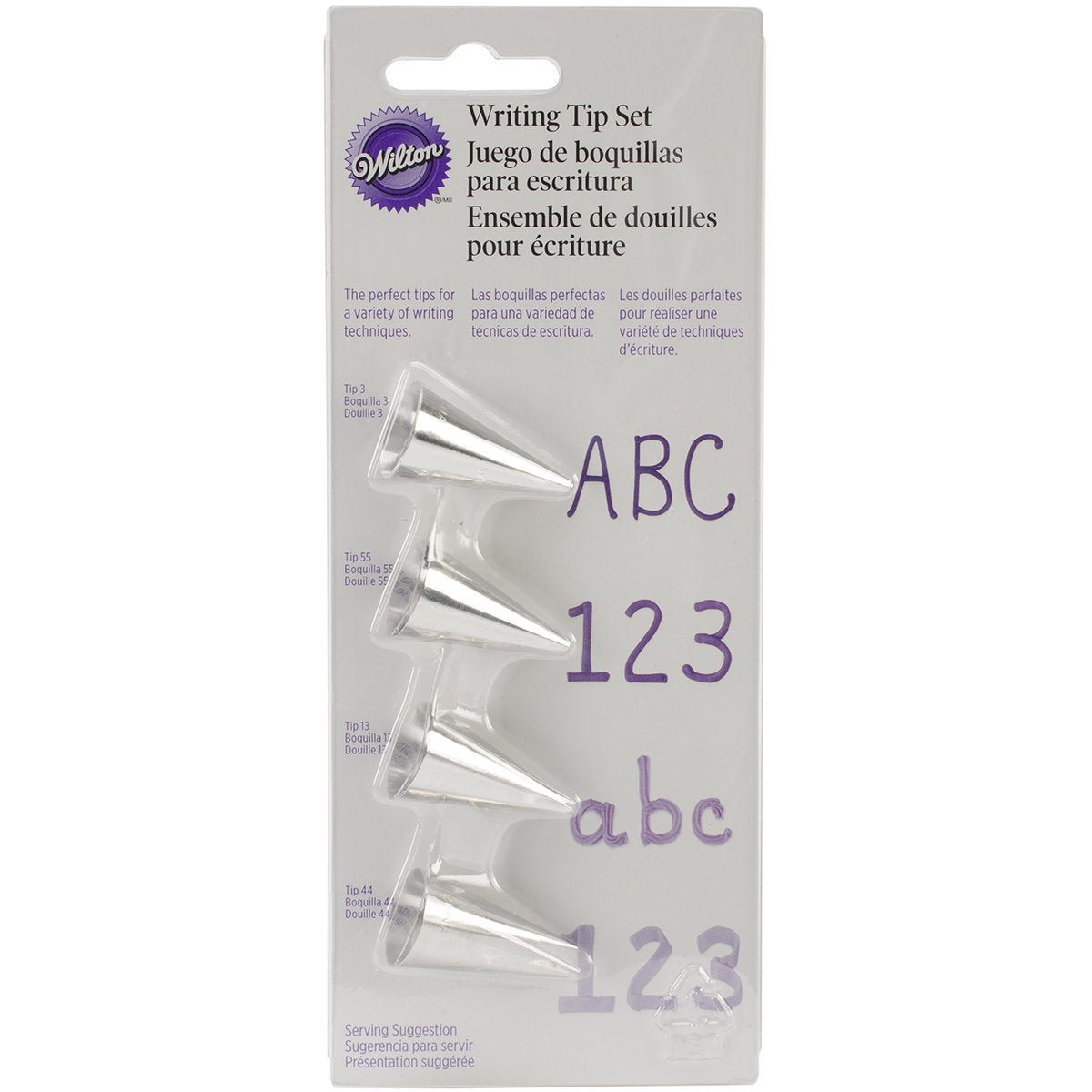 Wilton : Writing Tip Set - Carded