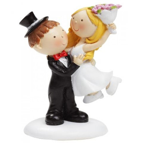 Wedding topper couple lift 10 cm x 6 cm