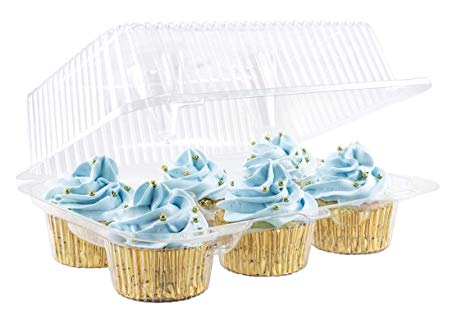 6 Cavity Hinged Cupcake Pack - Bakeworld.ie