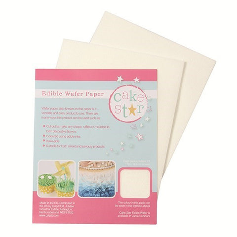 Edible Wafer Paper 178 x 142mm