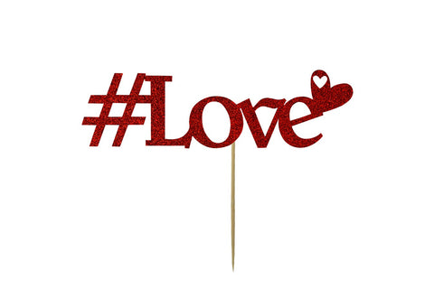 Cake Topper - Love - Red