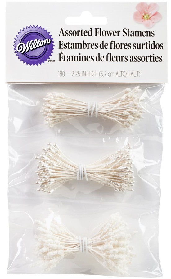 Wilton : Flower Stamen Assortment - 180 Pieces