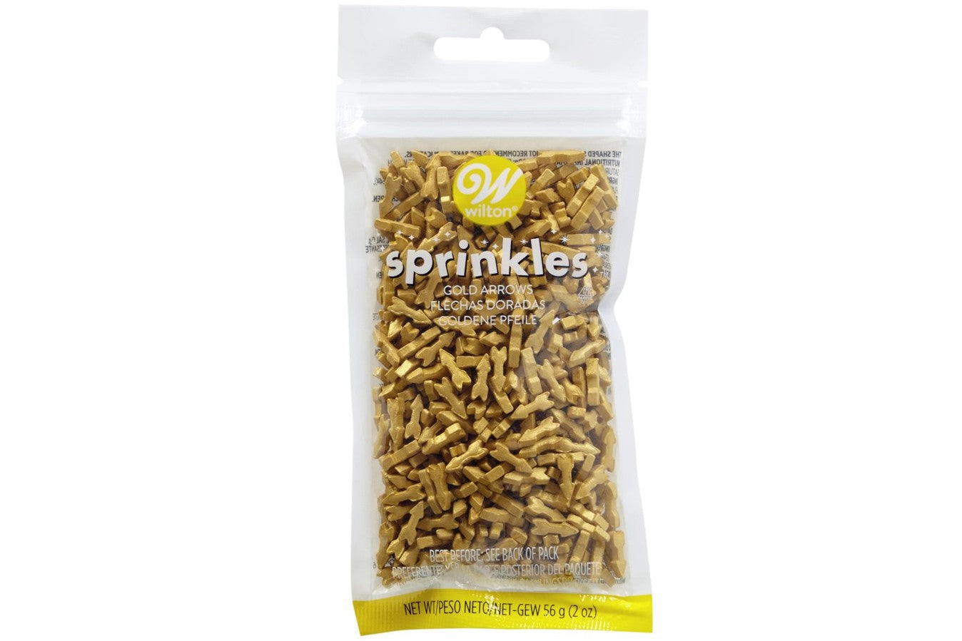 Wilton : Sprinkles - Gold Arrows - 56g