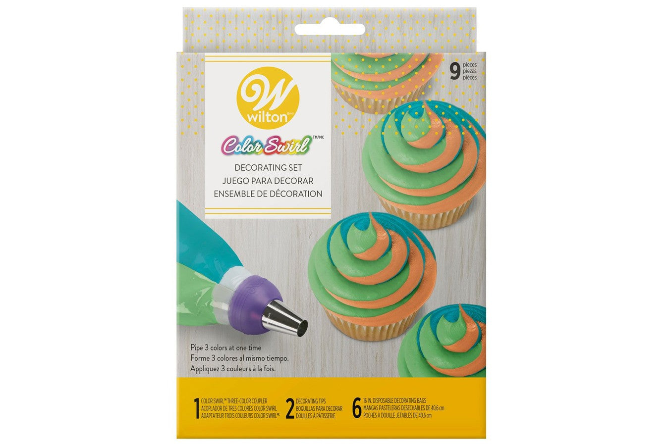 Wilton : ColourSwirl Tri-Colour Decorating Set