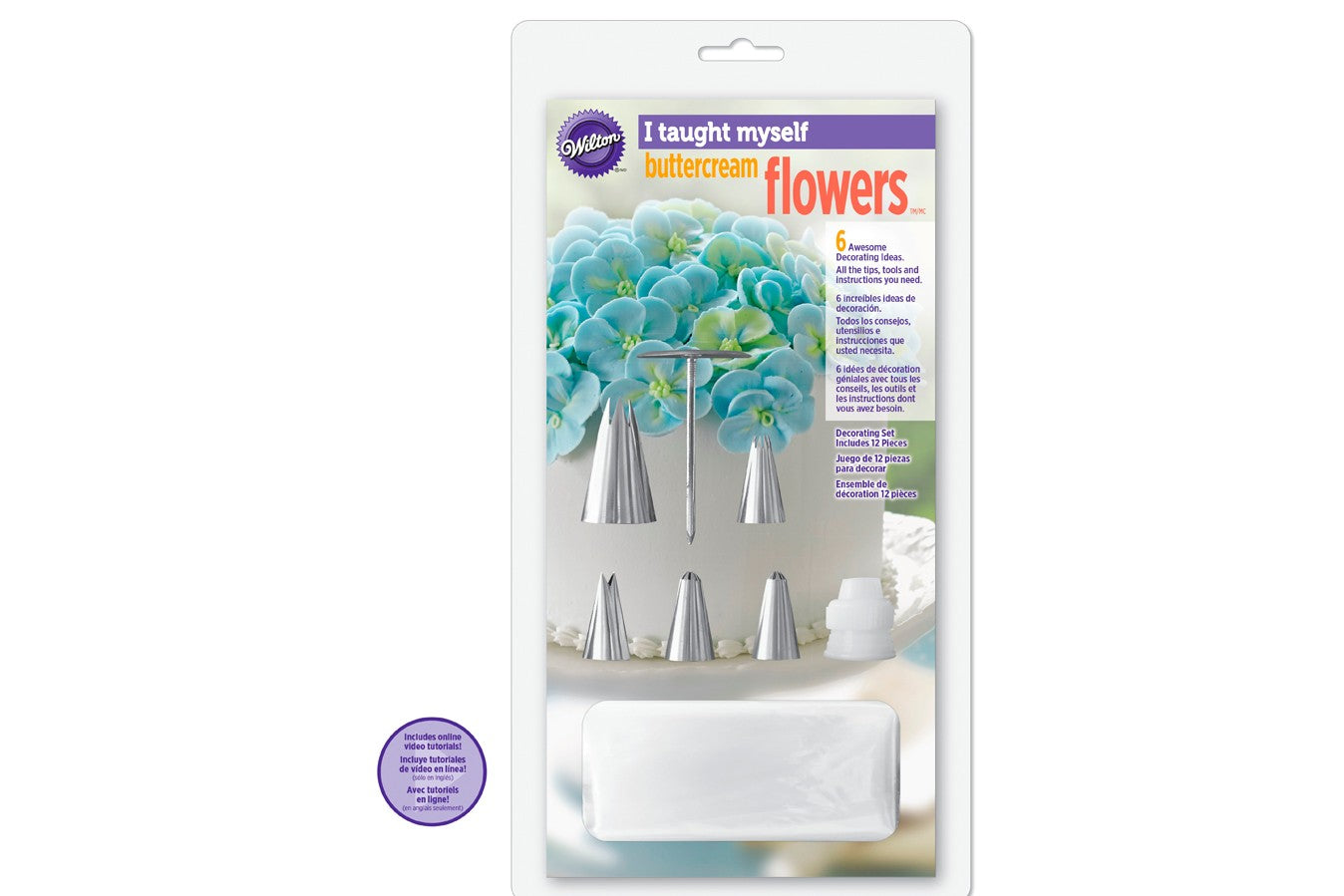 Wilton : 'I Taught Myself' Buttercream Flowers Piping Kit