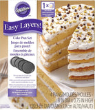 "Wilton 4 Piece Easy Layers 8"" Round Cake Tin Set"