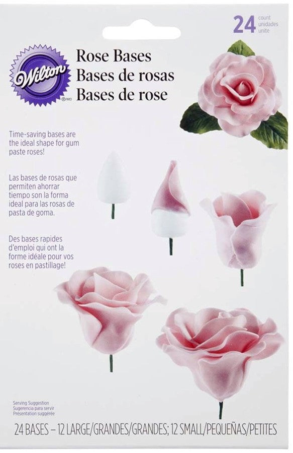 Wilton : Gum Paste Rose Bases - 24 Pack