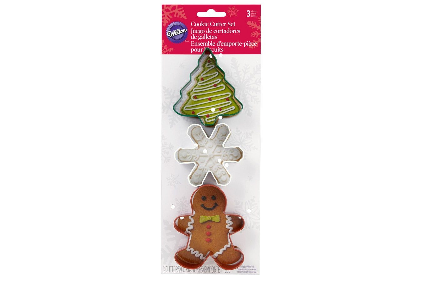 Xmas Tree Cookie Cutter Set 3 Wilton