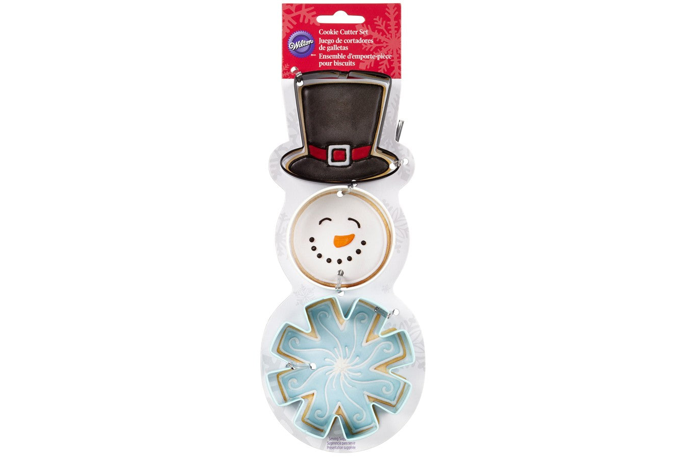 Wilton : Snowman Cookie Cutter Set - Set of 3