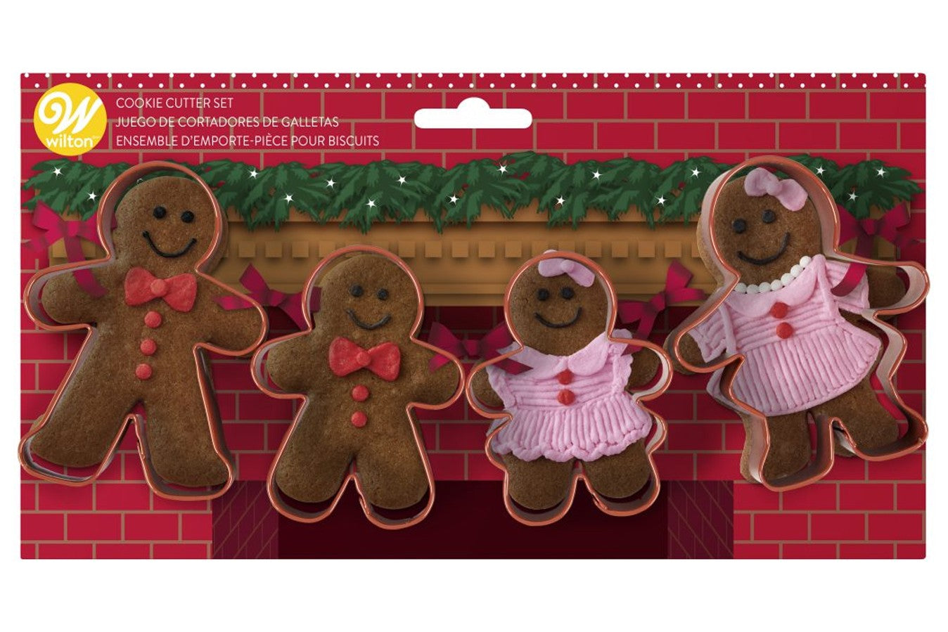 Wilton : Gingerbread Mantle Cutter Set - 4 Pieces