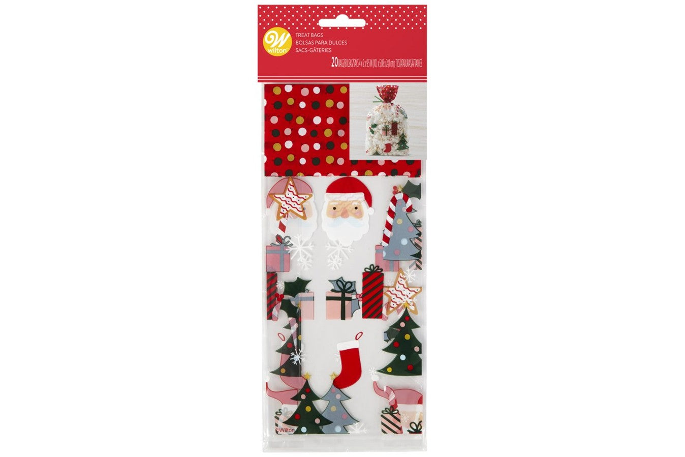 Wilton : Traditional Christmas Treat Bags - Pack of 20