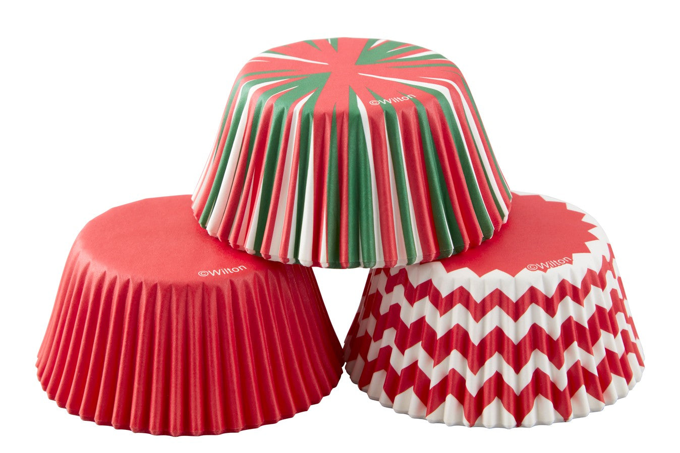 Wilton - Red, Green and White - Pack of 75