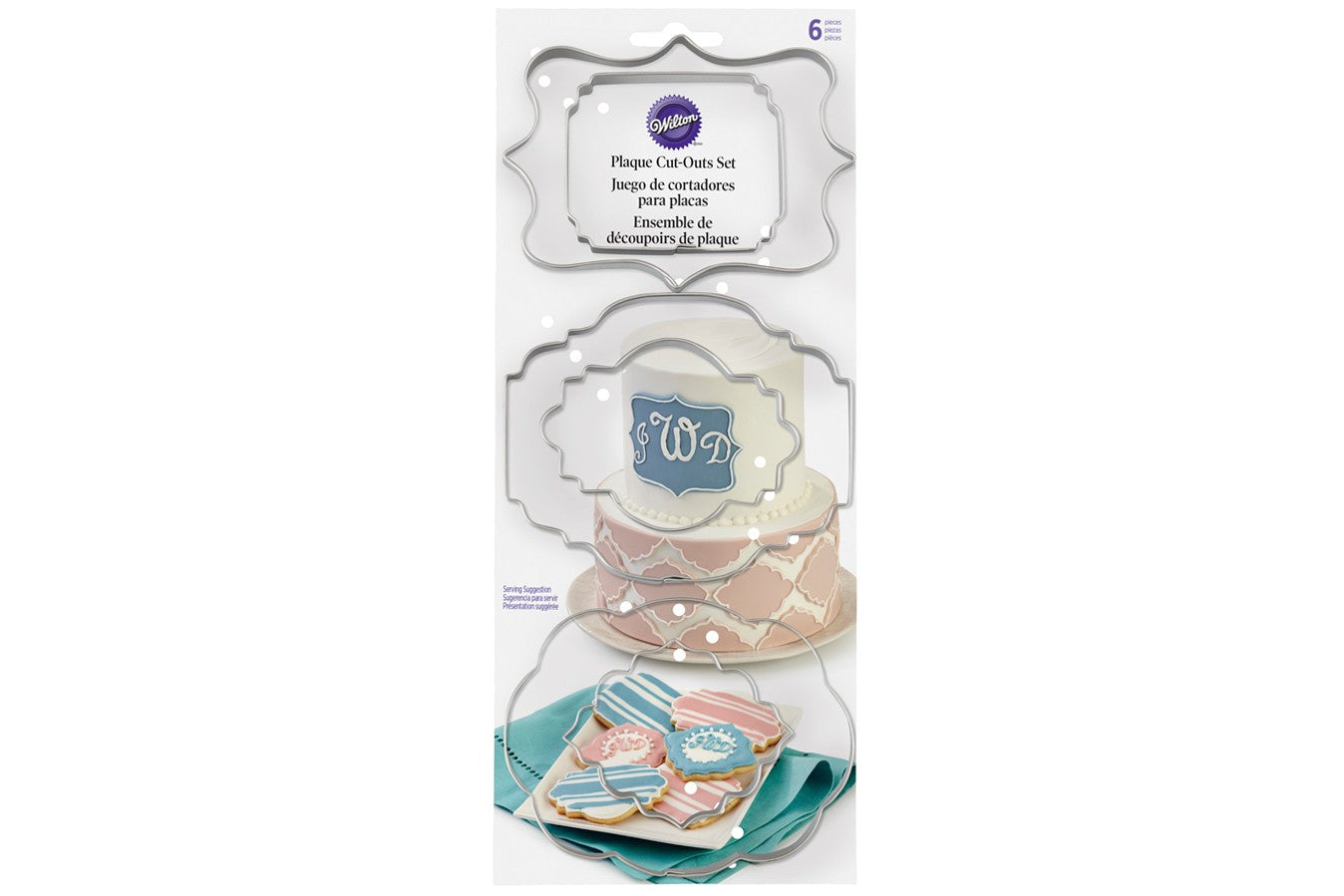 Wilton : Plaque Cut Outs - Set of 6