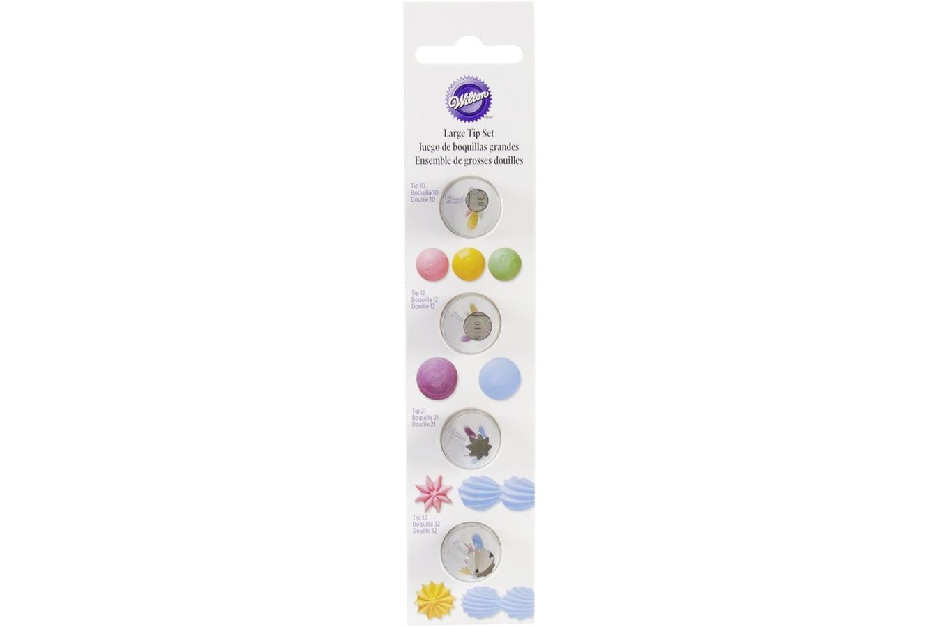 Wilton : Large Round and Star Tip Set - Carded
