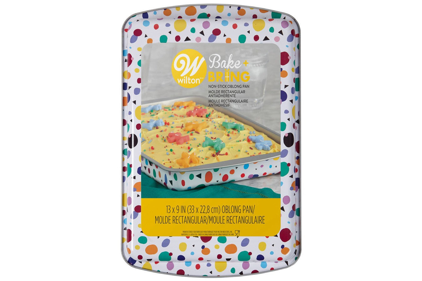 "Wilton : Bake & Bring -Geometric Print - 9"" x 13"" Oblong Tin"
