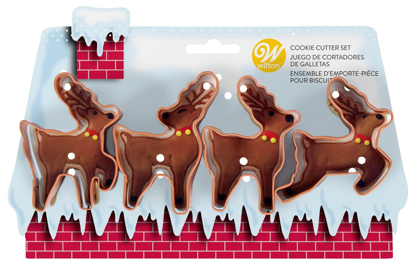 Wilton : Reindeer Cookie Cutters - Set of 4