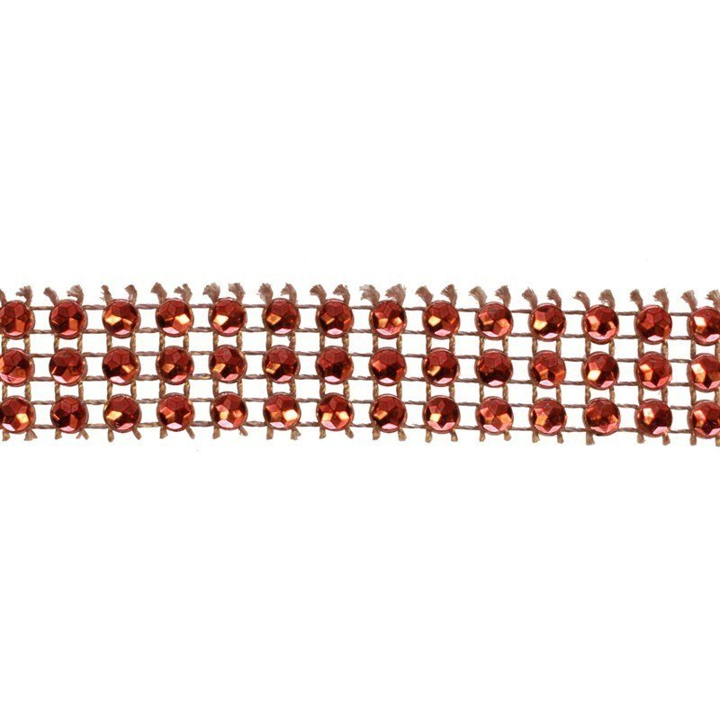 Red Diamante Trim 14mm - Medium 5m